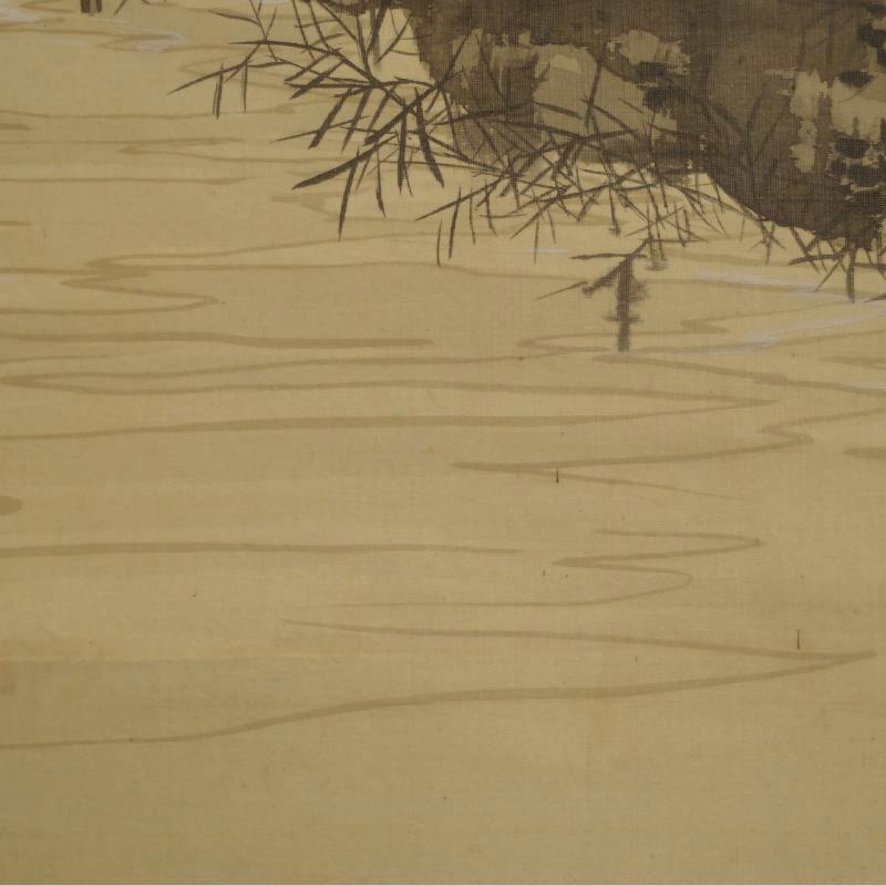 Particolare Rotolo antico giapponese paesaggio acquista online