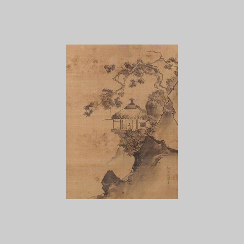 disegno montano con pagota e pinonero acquista online bonsai creativo
