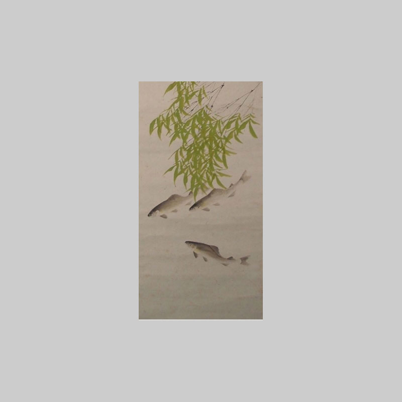 rotolo antico disegno bambu particolare immagine